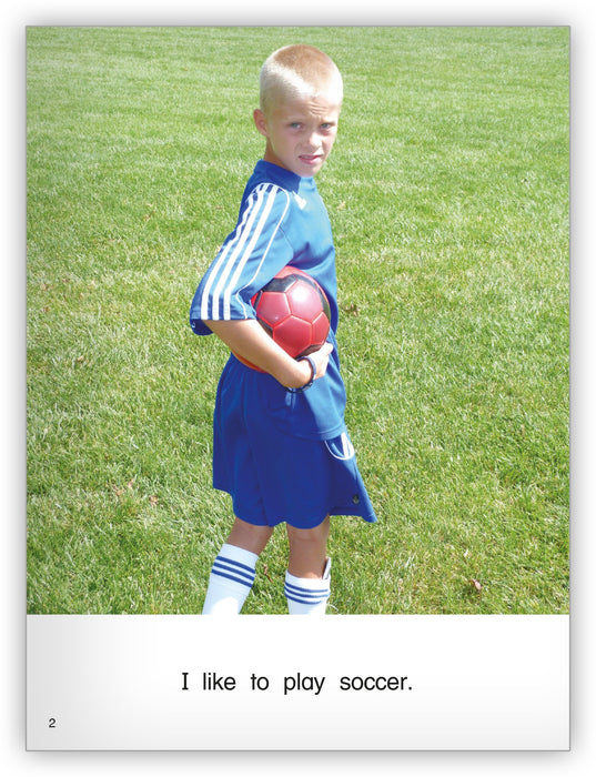 I Like Soccer Leveled Book