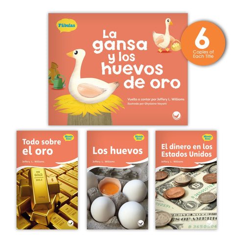 La gansa y los huevos de oro Theme Guided Reading Set from Fábulas y el Mundo Real