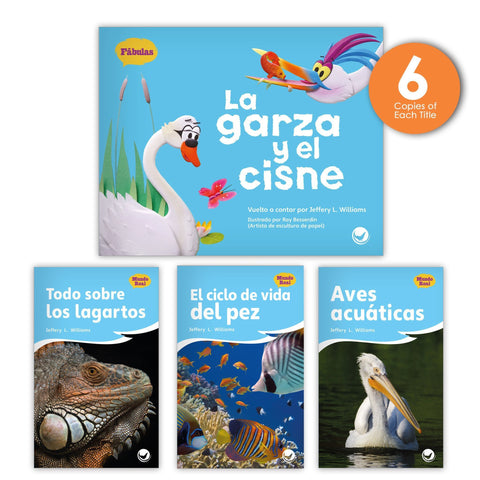 La garza y el cisne Theme Guided Reading Set from Fábulas y el Mundo Real