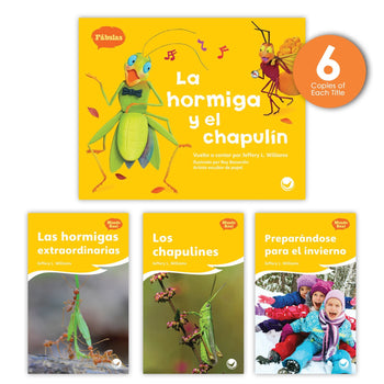La hormiga y el chapulín Theme Guided Reading Set from Fábulas y el Mundo Real