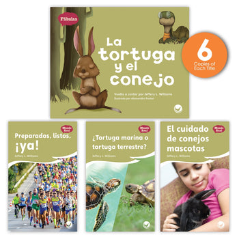 La tortuga y el conejo Theme Guided Reading Set from Fábulas y el Mundo Real