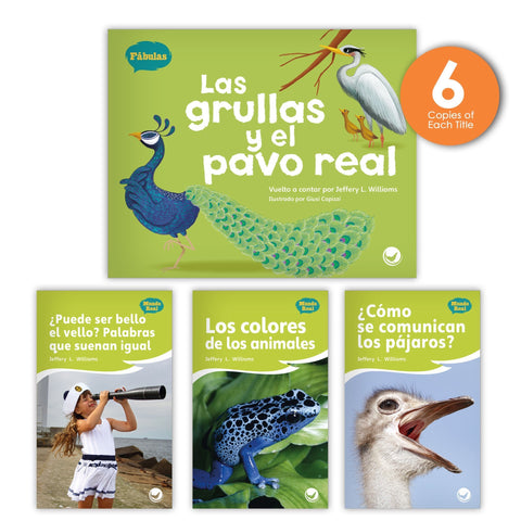 Las grullas y el pavo real Theme Guided Reading Set from Fábulas y el Mundo Real