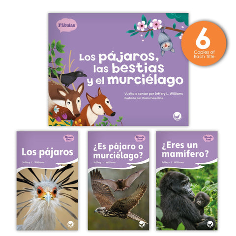Los pájaros, las bestias y el murciélago Theme Guided Reading Set from Fábulas y el Mundo Real