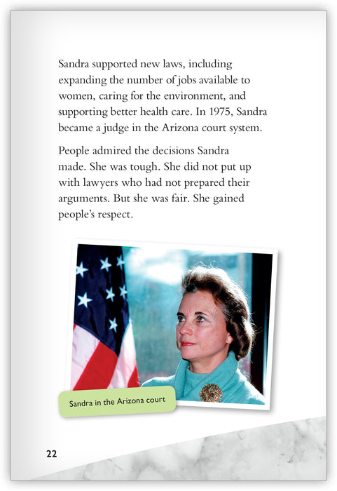 Sandra Day O'Connor: From the Lazy B to Washington, DC Leveled Book