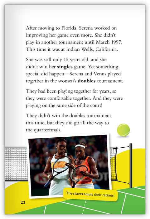 Serena Williams: Game, Set, and Match Leveled Book