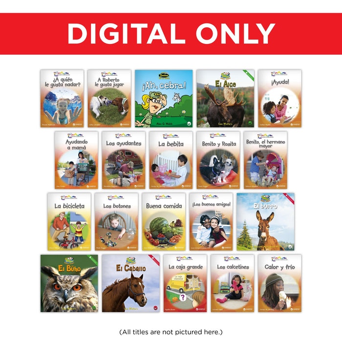 Spanish Kindergarten Library Digital Set