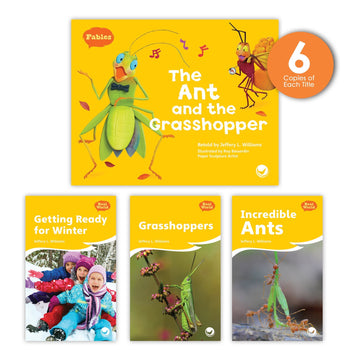 The Ant and the Grasshopper Theme Guided Reading Set from Fables & the Real World