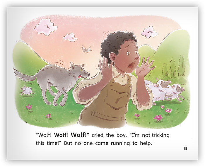 The Boy Who Cried Wolf Big Book from Fables & the Real World