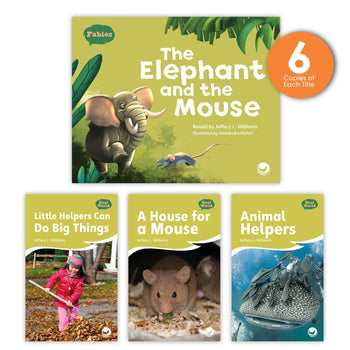 The Elephant and the Mouse Theme Guided Reading Set from Fables & the Real World
