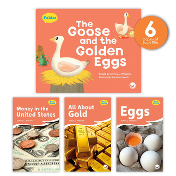 The Goose and the Golden Eggs Theme Guided Reading Set from Fables & the Real World