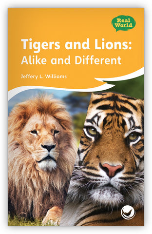 Tigers and Lions: Alike and Different Big Book from Fables & the Real World