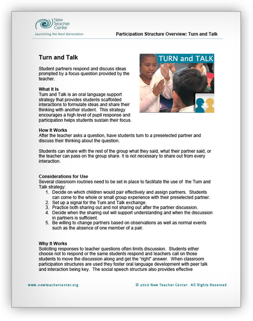 Turn and Talk Overview