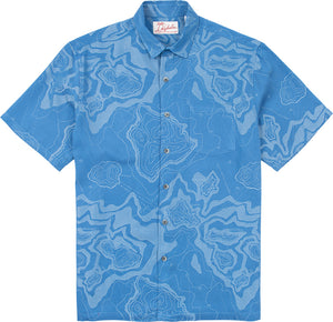 Kahala Shirts Islandography Blue
