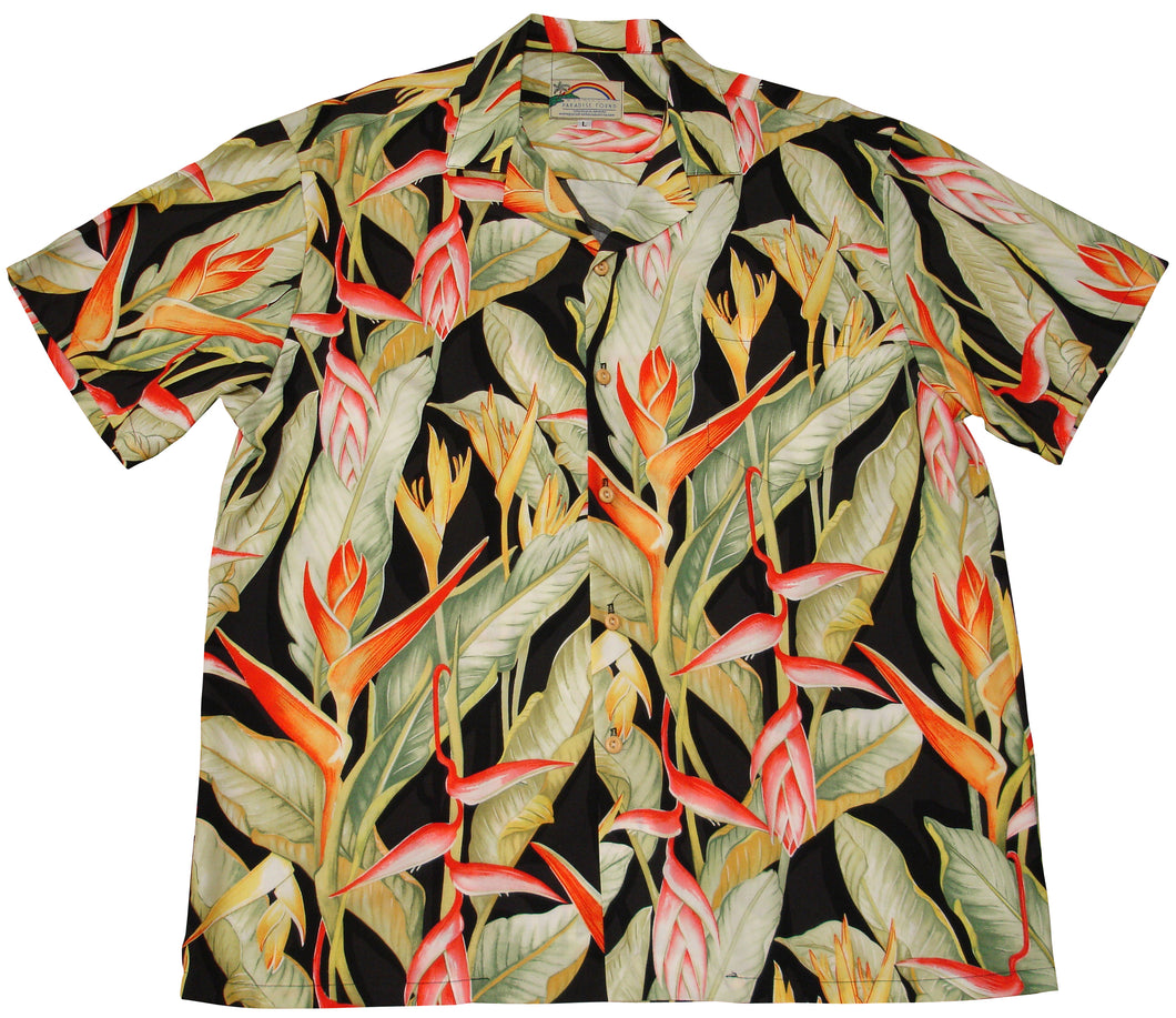 Paradise Found Hawaiian Shirts Heliconia