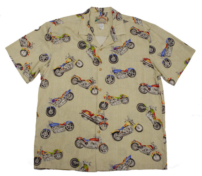 Paradise Found Hawaiian Shirts Motorcycle