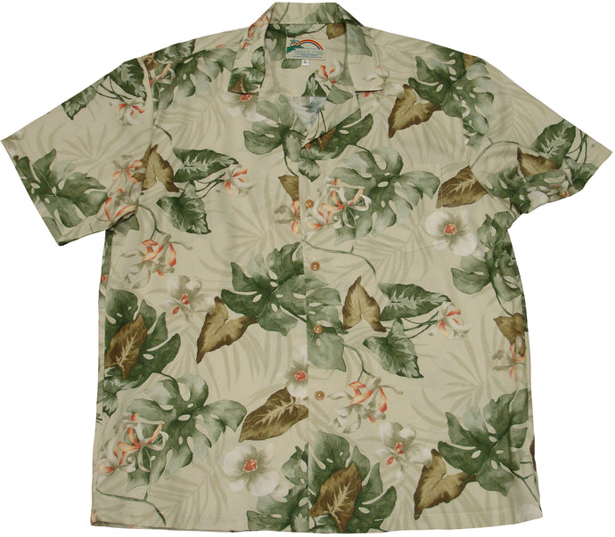 Paradise Found Hawaiian Shirts Monstera Orchid