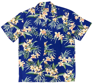 Paradise Found Hawaiian Shirts Orchid Ginger