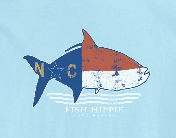 Fish Hippie North Carolina State Tee Sky Blue