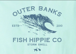 Fish Hippie Storm Swell Tee Heather Ice