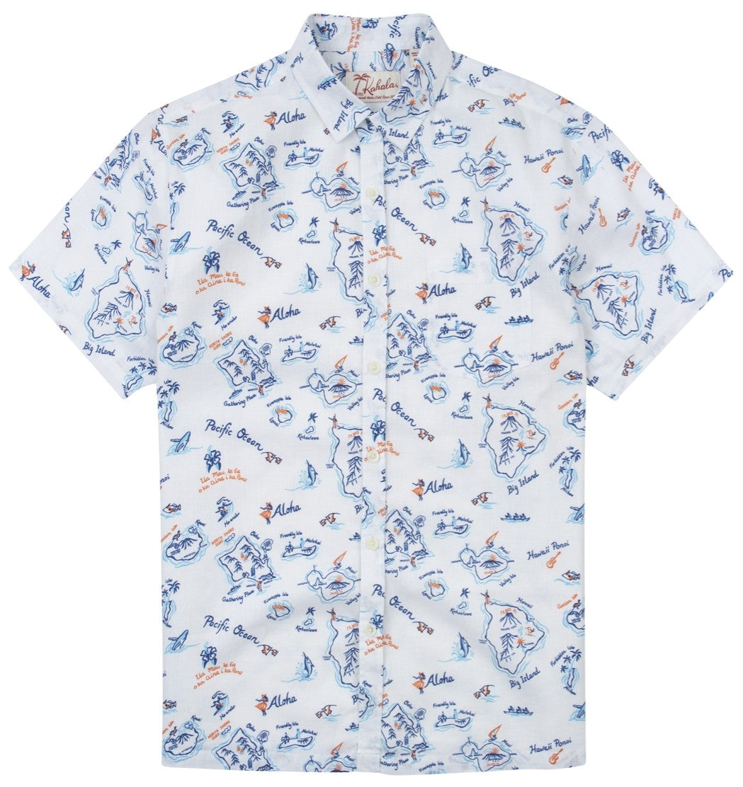 Kahala Shirts Exploration White
