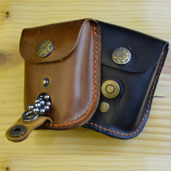 Leather Case Waist Bag Pouch for Catapult Slingshot Steel Balls Ammo