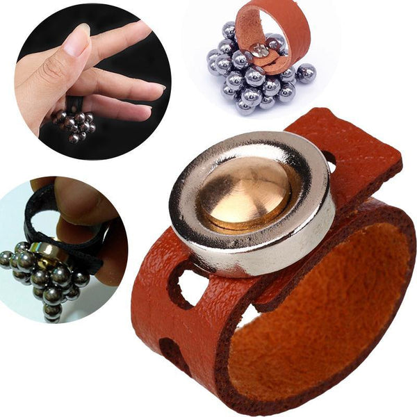 Magnetic Leather Ring for Easy Slingshot Ammo Pick-Up