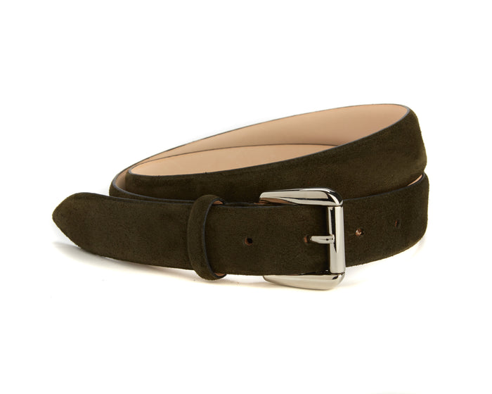 Mount Belt - Olive Suede
