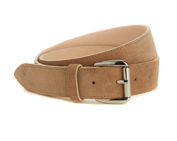 Chiltern Belt - Beige Suede