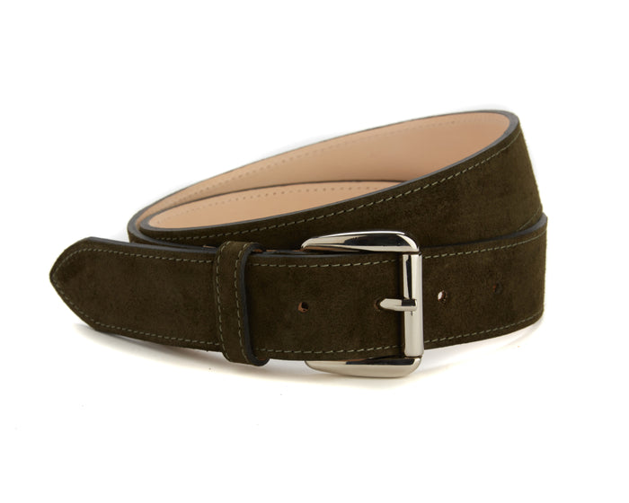 Chiltern Belt - Olive Suede