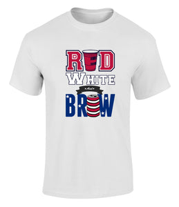Red White and Brew Beer Drinkers T Shirt