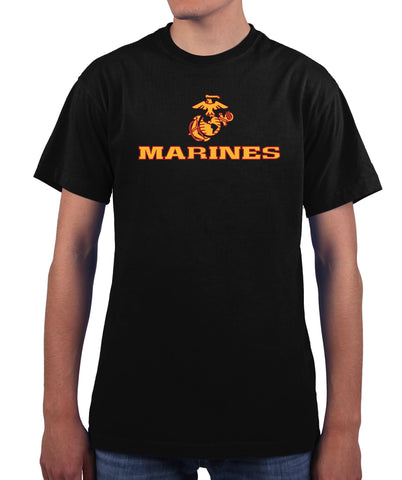 US Marines Two Tone Logo Men's T Shirt