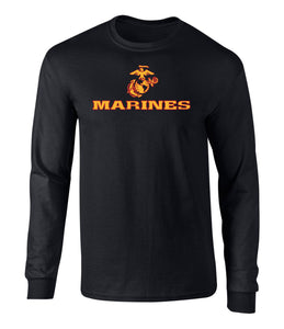 US Marines Two Tone Logo Men's Long Sleeve T Shirt
