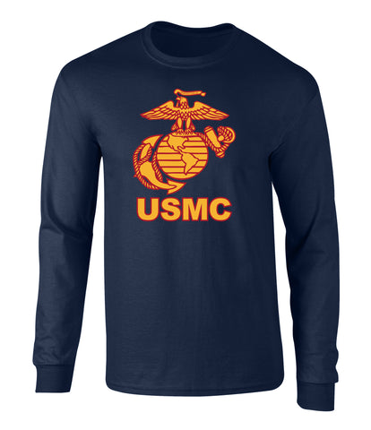 US Marines Eagle Globe Anchor Men's Long Sleeve T Shirt