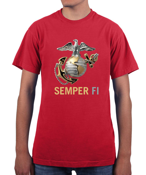 US Marines Semper Fi Eagle Graphic T Shirt