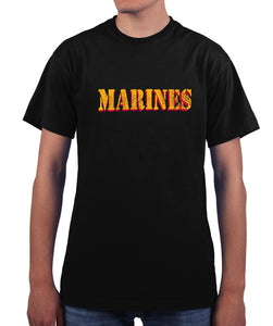 US Marines Vintage Marines Drop Shadow Graphic T Shirt