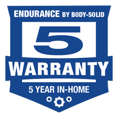 Endurance by Body-Solid 5-Year In Home Warranty