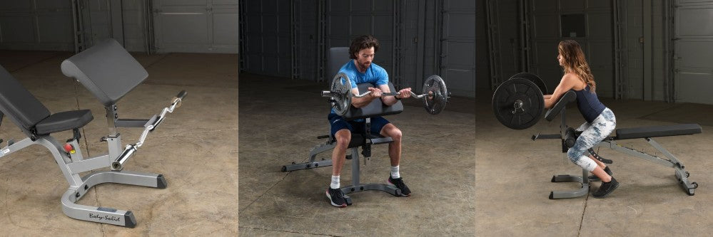 Bench with Preacher Curl Add-On