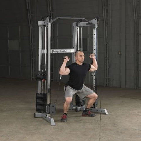 Functional Trainer Squat with Handles