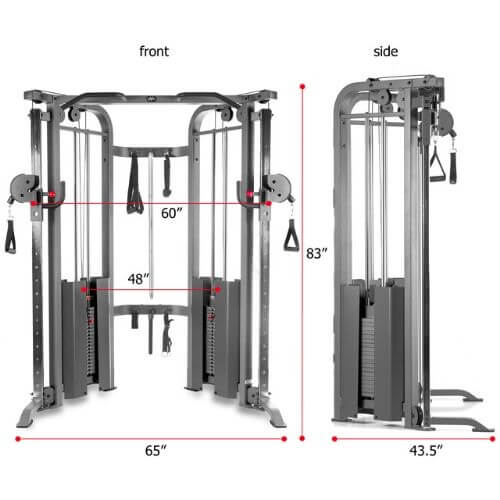XMark Functional Trainer Dimensions