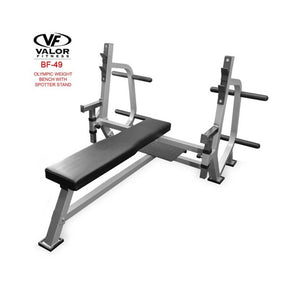 Valor Fitness BF-49 Olympic Weight Bench with Spotter Stand 3D Dimension