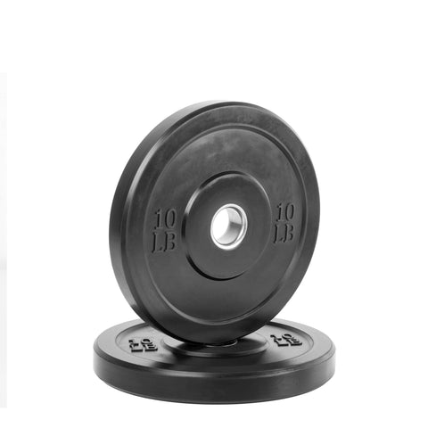 XMark Fitness Black Olympic Bumper Plates Pair XM-3385 DISCONTINUED