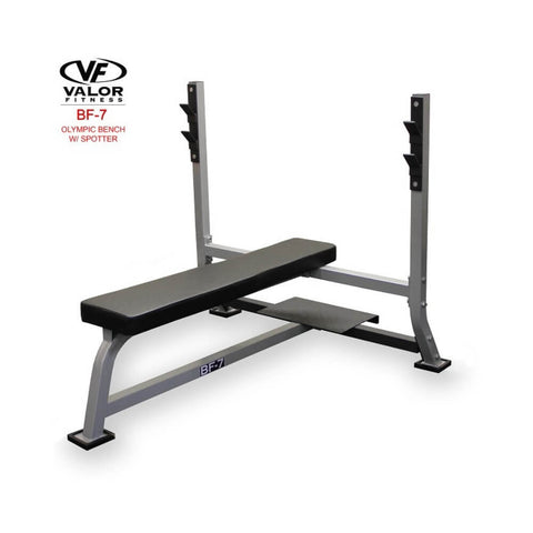 Valor BF-7 Olympic Bench w/ Spotter 3D View