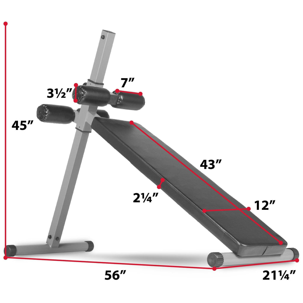 XMark Fitness 10 Position Adjustable Sit-up Ab Bench XM-4360