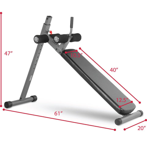 Image of XMark Fitness 12 Position Ergonomic Adjustable Decline Ab Bench XM-4416.1
