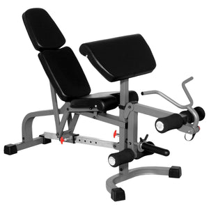 XMark Fitness FID Weight Bench with Arm Curl and Leg Developer XM-4419