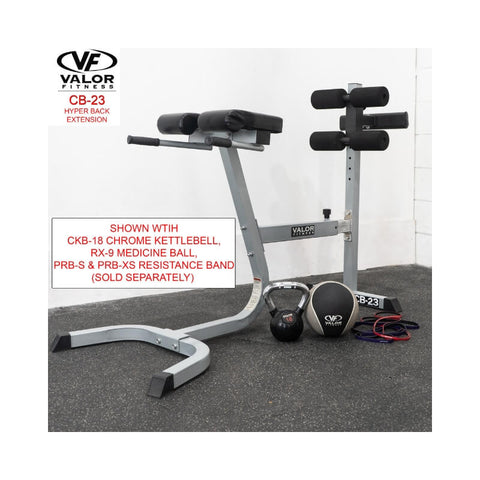 Valor Fitness  CB-23  Hyper Back Extension With Kettlebell and Medicine Ball