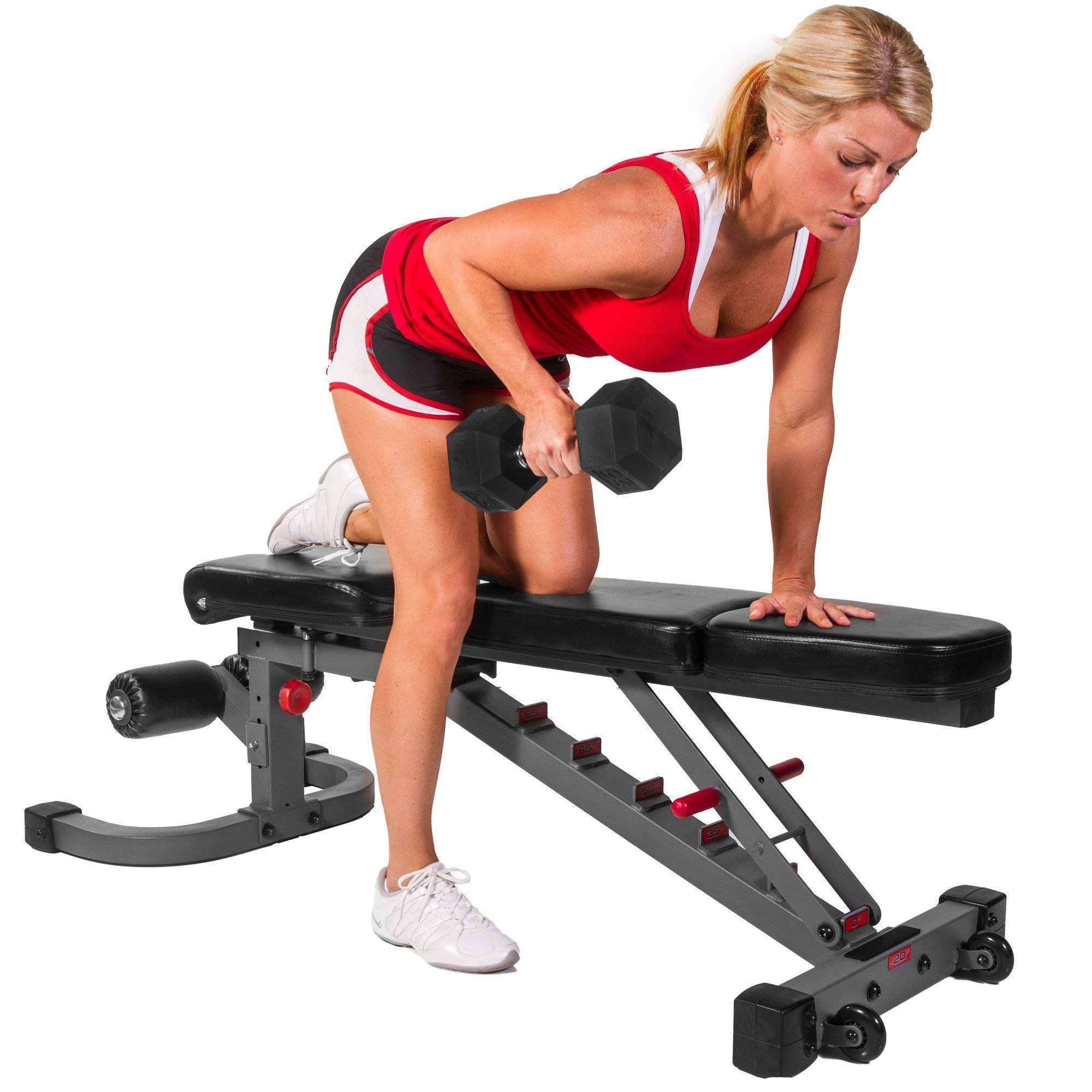 XMark Fitness Flat Incline Decline Weight Bench Adjustable Seat XM-7604