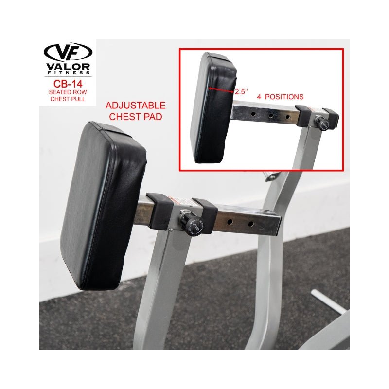 Valor Fitness CB-14  Seated Row / Chest Pull Adjustable Chest Pad