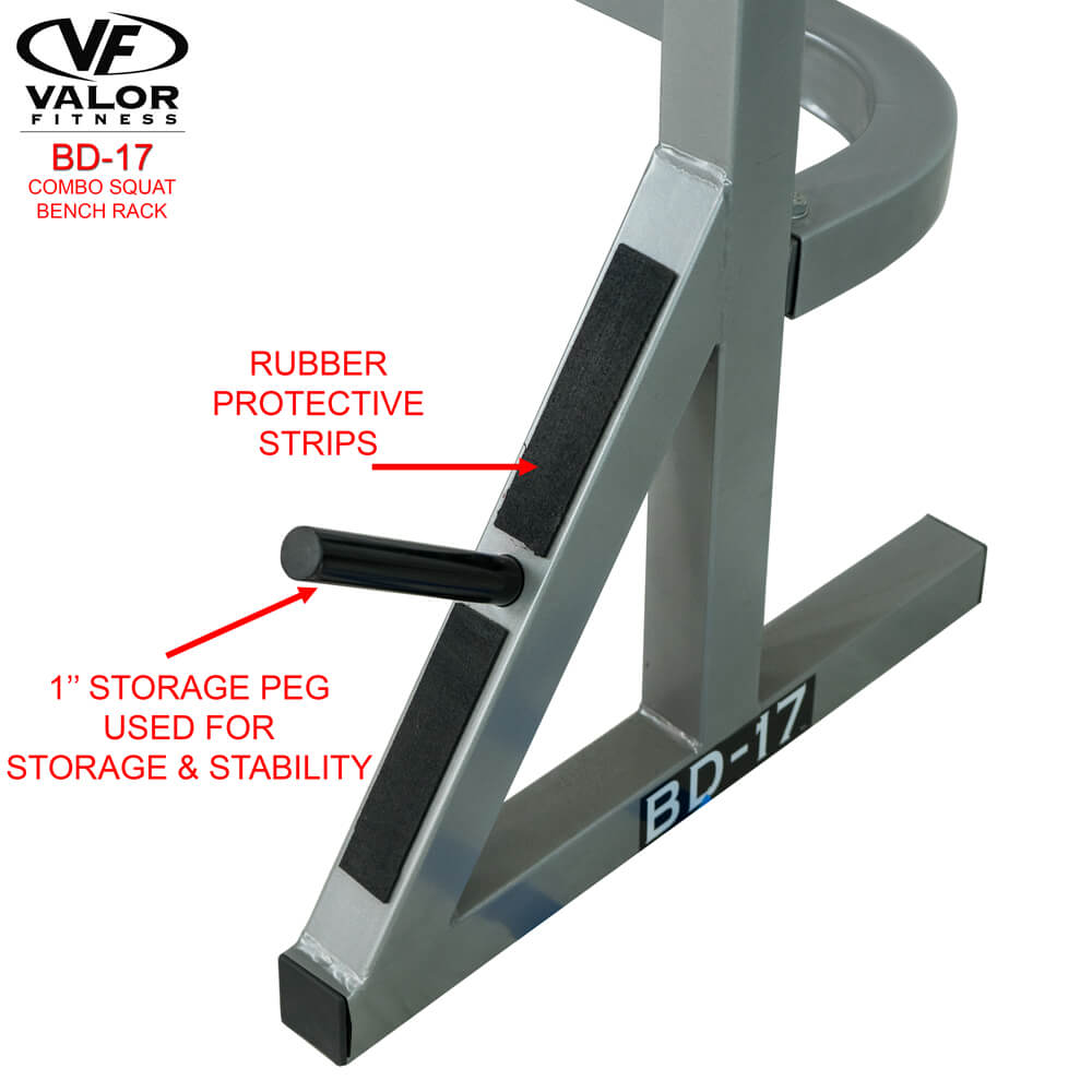 Valor Fitness BD-17 Combo Squat Bench Rack - Buy Online ...