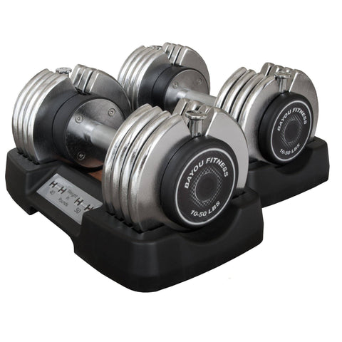 Image of Bayou Fitness 50LB Adjustable Dumbbells (Pair) BF-0250